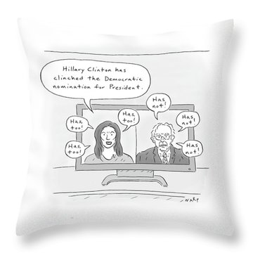Hillary Clinton Has Clinched The Democratic Throw Pillow