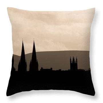 Throw Pillow featuring the photograph Hills And Spires by Ross G Strachan