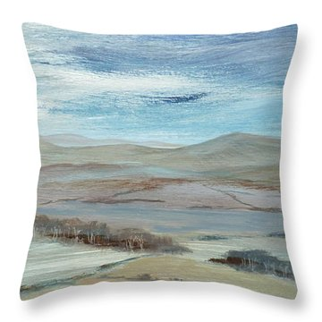 Hills In The Distance Throw Pillow