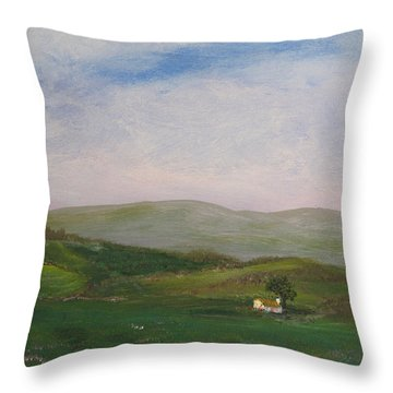 Hills Of Ireland Throw Pillow
