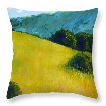 Hillside Prairie Throw Pillow by Nancy Merkle
