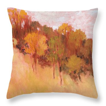 Hillside Trees Throw Pillow