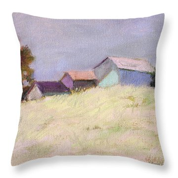 Hilltop Barns Throw Pillow