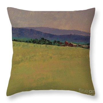 Hilltop Farm Throw Pillow by Gail Kent