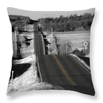 Hilly Ride Throw Pillow