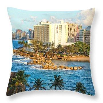 Hilton Conrad Throw Pillow by Daniel Sheldon
