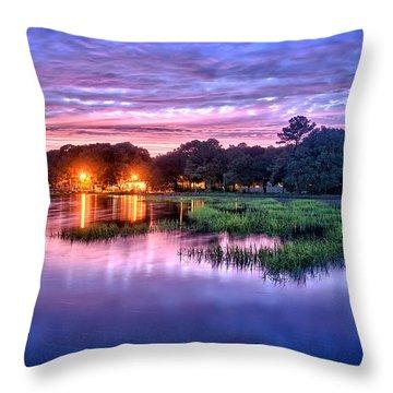 Hilton Head Evening Marsh Throw Pillow