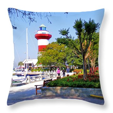 Hilton Head Lighthouse Throw Pillow