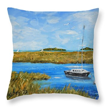 Hilton Head Mooring Throw Pillow