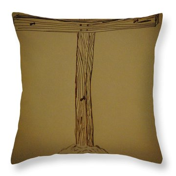 Him Alone Throw Pillow