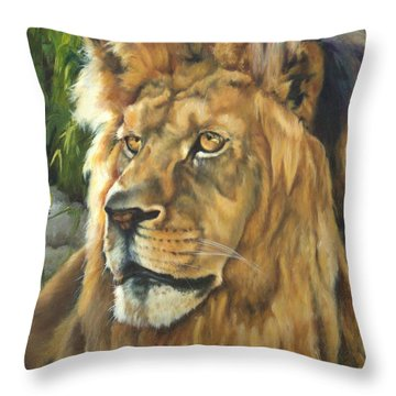 Him - Lion Throw Pillow