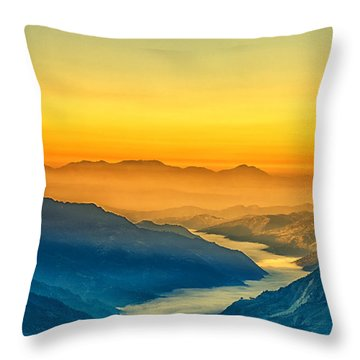 Himalaya In The Morning Light Throw Pillow by Ulrich Schade