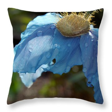 Blue Allure Throw Pillow