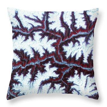 Himalayas Throw Pillow by Adam Romanowicz
