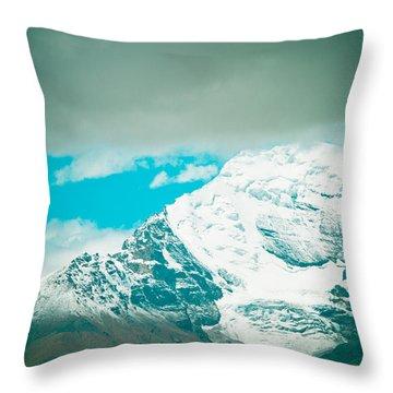 Himalyas Range Closeup View From Tibet Throw Pillow