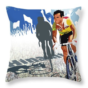 Hinault Map Print Throw Pillow