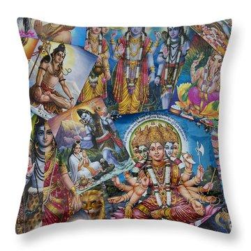 Hindu Posters Throw Pillow