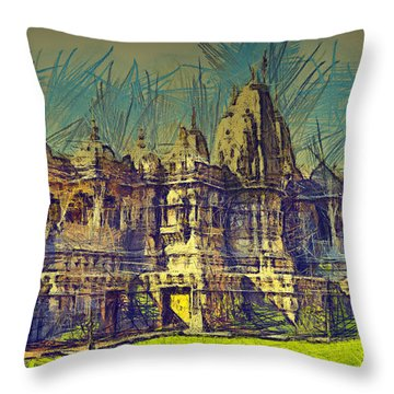 Throw Pillow featuring the photograph Hindu Temple by Joseph Hollingsworth
