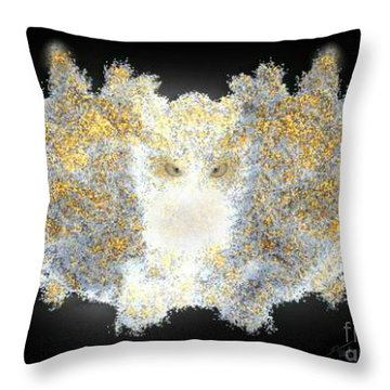 Hint Of Owl Throw Pillow