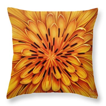 Throw Pillow featuring the painting Hipnose by Paula L