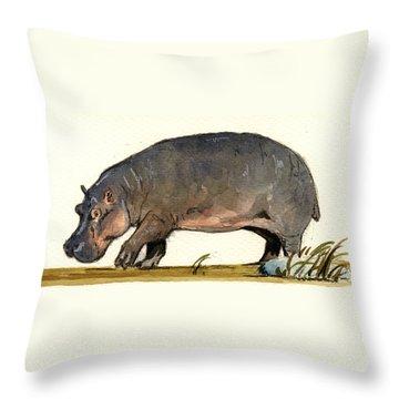 Hippopotamus Throw Pillows