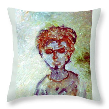 Hipster Throw Pillow by Shea Holliman