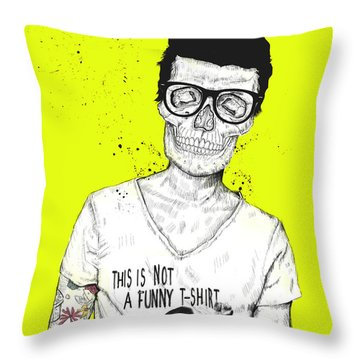 Hipsters Not Dead Throw Pillow