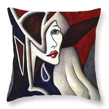 His Absence And Pain's Piercing Presence Throw Pillow