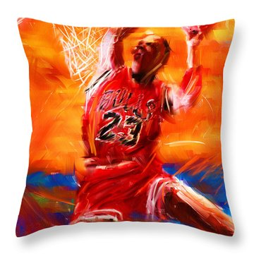 His Airness Throw Pillow