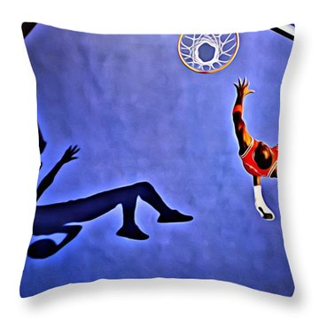 His Airness Michael Jordan Throw Pillow