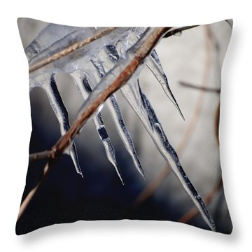 His Biting Touch Throw Pillow