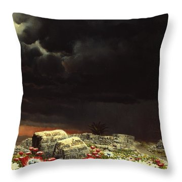His Jewels Throw Pillow