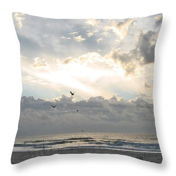 His Glory Shines Throw Pillow by Judith Morris