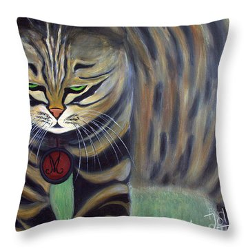 His Lordship Monty Throw Pillow