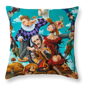 His Majesty Edgar Allan Poe Throw Pillow