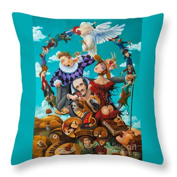 His Majesty Edgar Allan Poe Throw Pillow