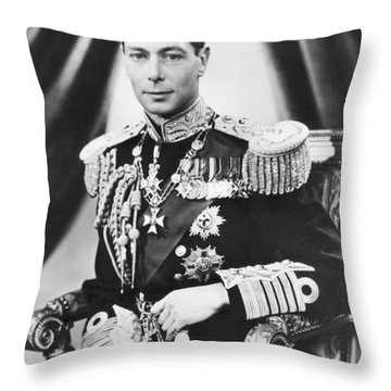 His Majesty King George Vi Throw Pillow