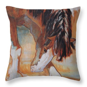 His Majesty's Nose Itches Throw Pillow