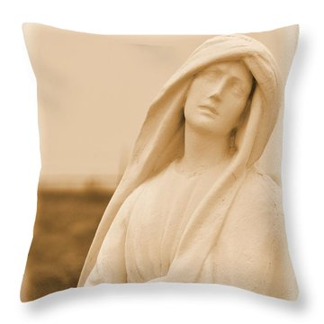His Mother Throw Pillow by Nadalyn Larsen