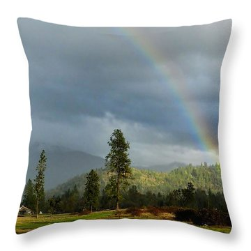 Throw Pillow featuring the photograph His Sign by Julia Hassett