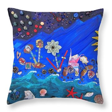 Throw Pillow featuring the mixed media His Story by Brenda Pressnall
