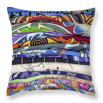 His Tshirt Collection Throw Pillow by Janice Rae Pariza