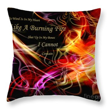 Throw Pillow featuring the digital art His Word In My Heart by Margie Chapman