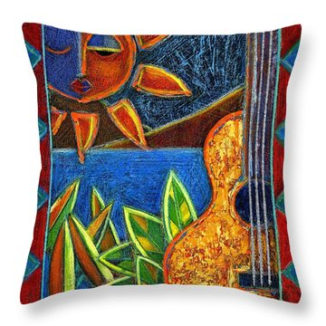 Throw Pillow featuring the painting Hispanic Heritage by Oscar Ortiz