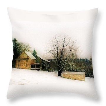 Historic 1700's Farmhouse Throw Pillow