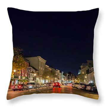Historic Annapolis - Pano Throw Pillow