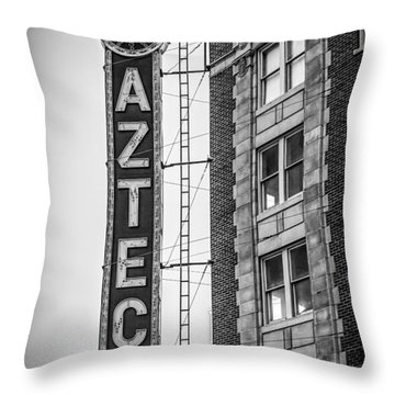 Historic Aztec Theater Throw Pillow by Melinda Ledsome