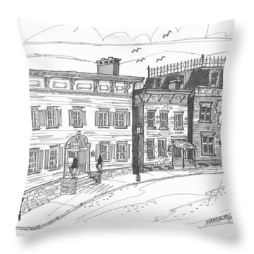 Historic Catskill Street Throw Pillow