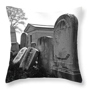 Historic Cemetery Throw Pillow by Jennifer Ancker