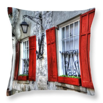 Historic Charleston Pirates House Throw Pillow